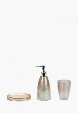 Набор аксессуаров для ванной Sofi De Marko. Цвет: золотой