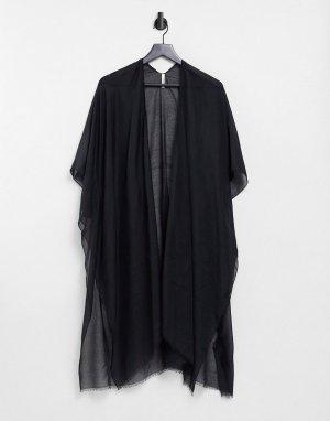 Черная пляжная туника -Черный цвет Vero Moda