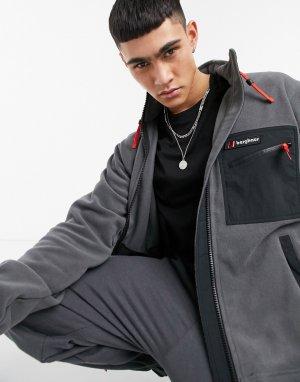 Серая флисовая куртка Ascent 91-Черный цвет Berghaus