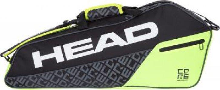 Сумка для 3 ракеток CORE 3R Pro Head. Цвет: черный