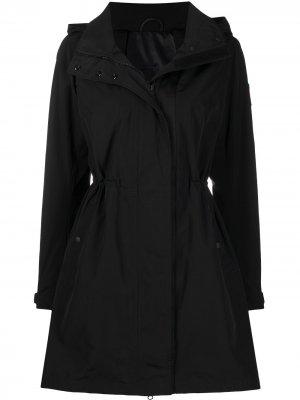 Куртка с нашивкой-логотипом и капюшоном Canada Goose. Цвет: черный