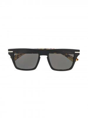 Солнцезащитные очки в квадратной оправе Cutler & Gross. Цвет: желтый