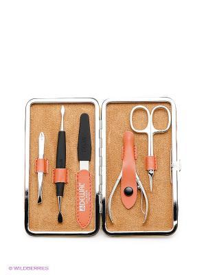 Маникюрный набор Dewal. Цвет: оранжевый, серебристый, черный
