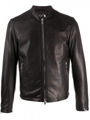 Байкерская куртка узкого кроя Dondup. Цвет: черный