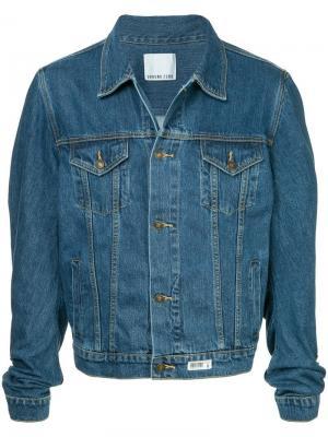 Джинсовая куртка с рукавами в стиле оверсайз Ground Zero. Цвет: синий