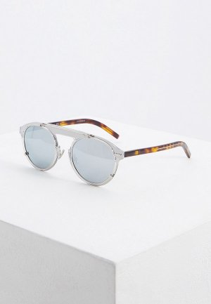 Очки солнцезащитные Christian Dior Homme DIORGENESE GKZ. Цвет: серебряный