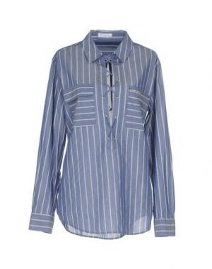 Блузка EQUIPMENT. Цвет: синий