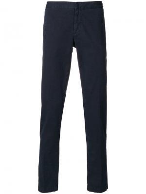 Классические брюки чинос Eleventy. Цвет: синий