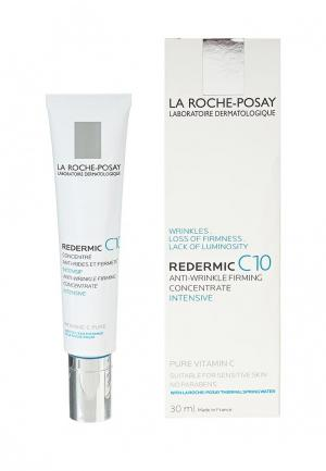 Крем для лица La Roche-Posay REDERMIC C10 от морщин, потери упругости кожи, тусклого цвета лица, 30 мл. Цвет: белый