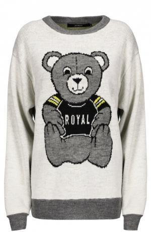 Вязаный свитер Joyrich. Цвет: белый