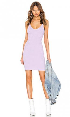Облегающее мини-платье shrunken rib T by Alexander Wang. Цвет: бледно-лиловый