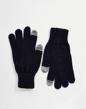 Перчатки Brad Calvin Klein. Цвет: синий