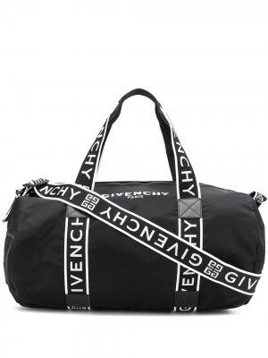 Дорожная сумка с логотипом Givenchy. Цвет: черный
