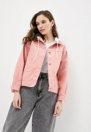 Куртка джинсовая Grafinia. Цвет: розовый