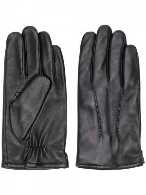 Однотонные перчатки Karl Lagerfeld. Цвет: черный