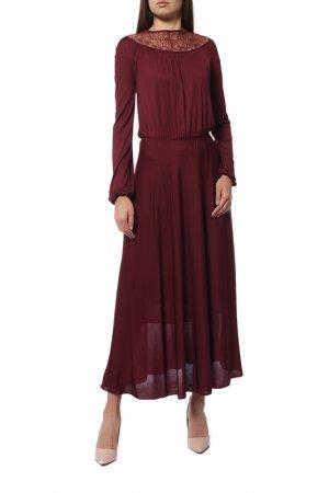 Платье MAXMARA STUDIO. Цвет: винный