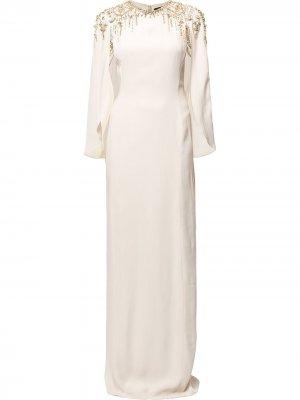 Декорированное платье Romantica Jenny Packham. Цвет: нейтральные цвета