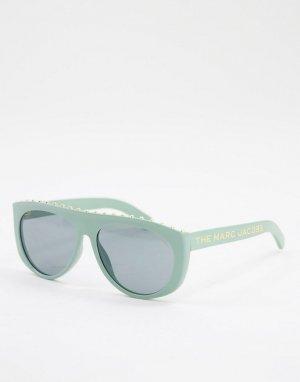 Солнцезащитные очки с линзами в круглой оправе 492/S-Зеленый цвет Marc Jacobs