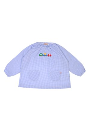 Фартук-рубашка для мальчика MIKI HOUSE. Цвет: разноцветный