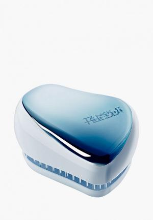 Расческа Tangle Teezer Compact Styler Sky Blue Delight Chrome. Цвет: голубой