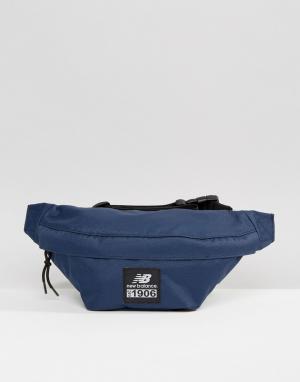Темно-синяя сумка-кошелек на пояс New Balance. Цвет: темно-синий