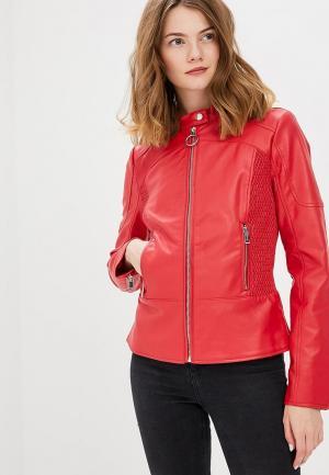 Куртка кожаная Guess Jeans GU644EWARCR2. Цвет: красный