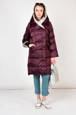 Куртка утепленная GRAFINIA. Цвет: бордовый