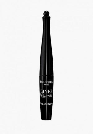Подводка для глаз Bourjois Liner Pinceau, 001, 2.5 мл. Цвет: черный