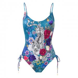 Слитный купальник Camilla. Цвет: синий