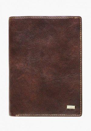 Обложка для документов Edmins. Цвет: коричневый