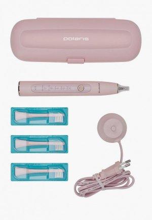 Набор для ухода за полостью рта Polaris зубная щетка и сменные насадки, 3 шт.. Цвет: розовый
