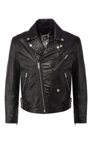 Кожаная косуха Givenchy. Цвет: черный