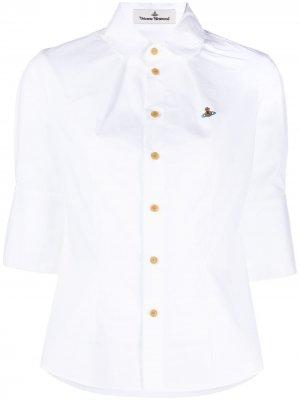 Рубашка с вышивкой Vivienne Westwood Anglomania. Цвет: белый