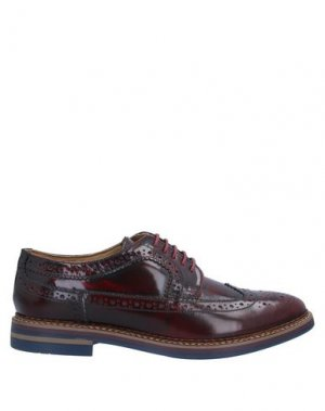 Обувь на шнурках BASE London. Цвет: красно-коричневый