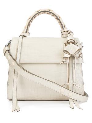 Кожаная сумка Elena Ghisellini. Цвет: бежевый