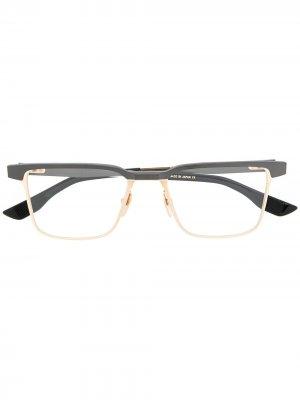 Очки Senator в квадратной оправе Dita Eyewear. Цвет: золотистый
