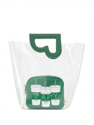 Прозрачная сумка-тоут BAPY BY *A BATHING APE®. Цвет: зеленый