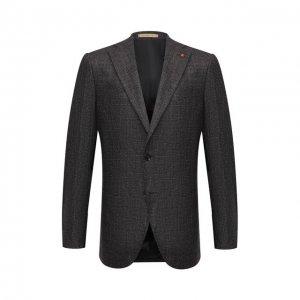 Пиджак из шерсти и кашемира Sartoria Latorre. Цвет: коричневый