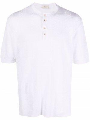 Рубашка хенли с узором шеврон Altea. Цвет: белый