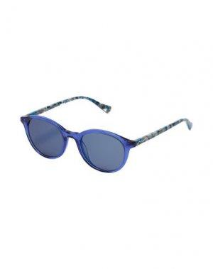 Солнечные очки PUMA. Цвет: синий