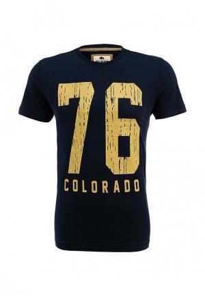 Футболка Colorado Jeans. Цвет: синий