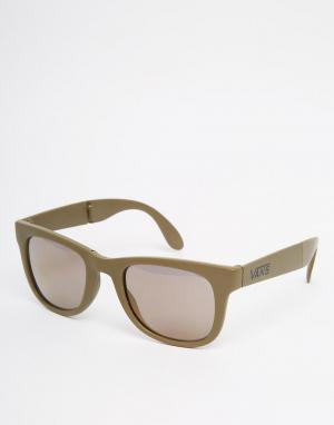 Складывающиеся солнцезащитные очки в серой оправе VUNKJ3R Vans. Цвет: серый
