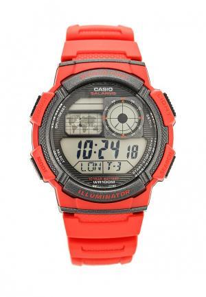 Часы Casio Collection AE-1000W-4A. Цвет: красный