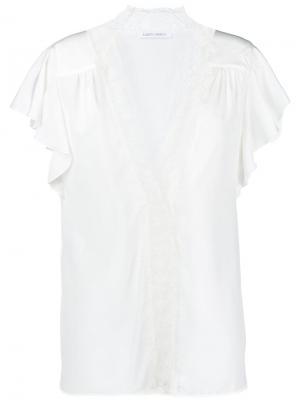 Lace-embroidered blouse Alberta Ferretti. Цвет: белый