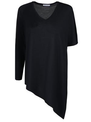 Асимметричный пуловер Gran Sasso. Цвет: синий