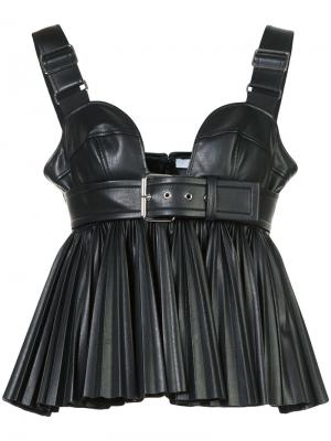 Faux leather pleated bustier Givenchy. Цвет: чёрный