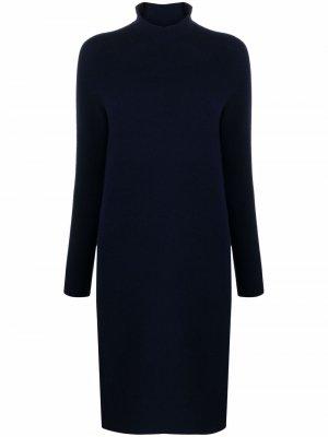 Вязаное платье Kiko с высоким воротником Christian Wijnants. Цвет: синий