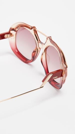 Thick Aviator Sunglasses Fendi