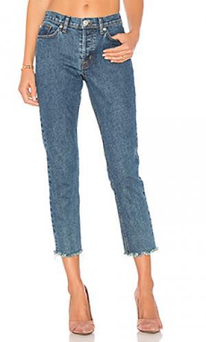 Укороченные джинсы с потрепанным низом riley Hudson Jeans. Цвет: none