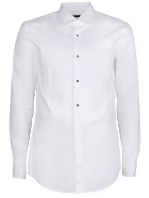 Хлопковая рубашка с запонками BOSS